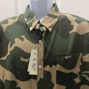 NEW wTag-Original PENGUIN Camouflage Shirt XXL